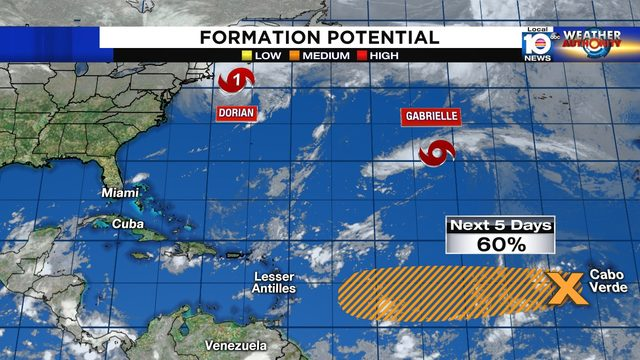 2 tropical disturbances to watch in eastern Atlantic as Hurricane Dorian…