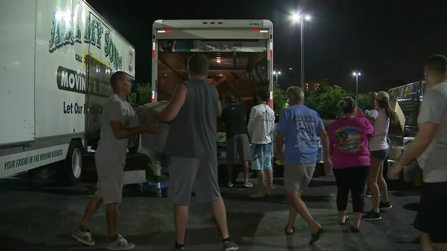 Massive amounts of hurricane relief donations heading to Bahamas by air and sea