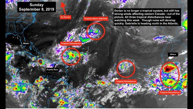 Several tropical disturbances in Atlantic to keep eye on this week