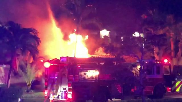 Several people hospitalized as Lauderdale-by-the-Sea home goes up in flames
