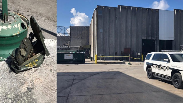 Possible grenade found during garbage sorting at Pembroke Pines Waste Management