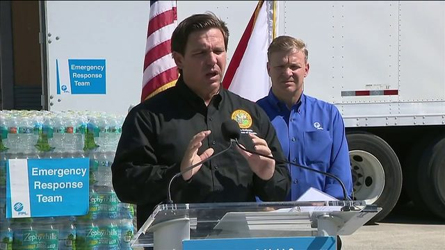 Florida, FPL donating truckloads of bottled water to Bahamas