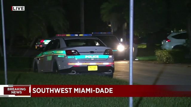 Miami-Dade Police surround Kendall home after receiving report of shots fired