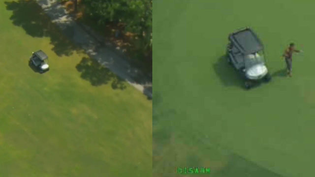 VIDEO: Crook leads cops on golf cart chase through Florida golf course