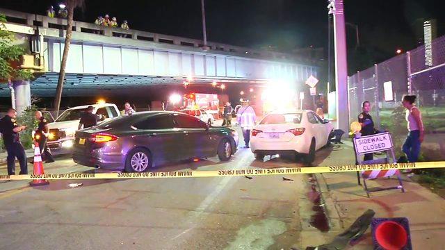 Miami police officer injured in DUI crash