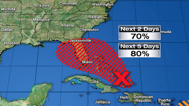 VIDEO: Tropical disturbance near Bahamas getting better organized