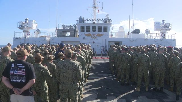 USNS Comfort holds 9/11 remembrance ceremony in Gulf waters