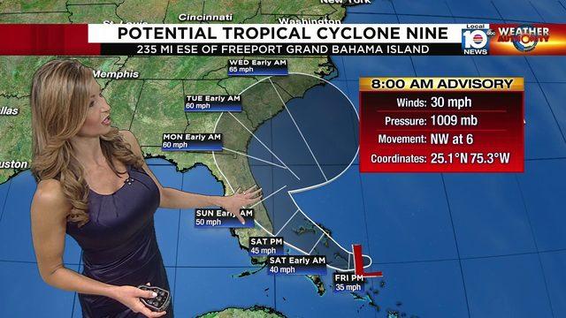Potential Tropical Cyclone Nine forecast: Sept. 13 8 a.m.