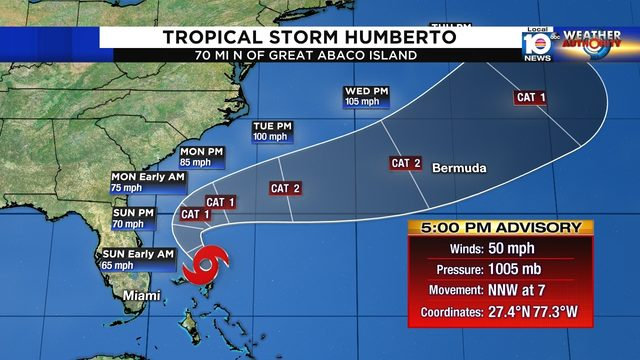 4 tropical systems line up in Atlantic, 1 in Gulf of Mexico