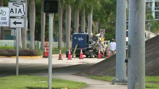 Workers deal with second main break in Aventura