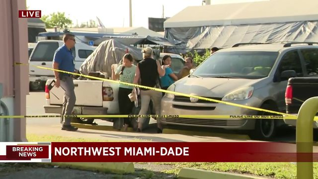 Armed robbery outside Miami flea market