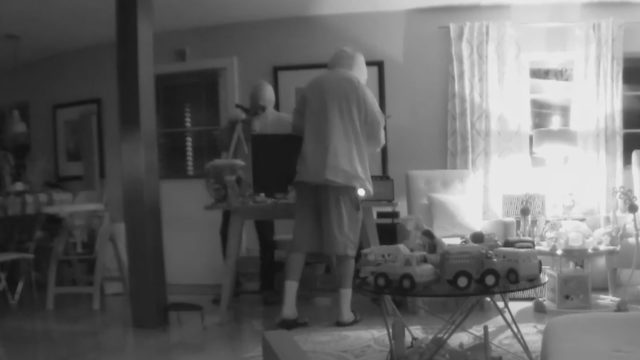 Home burglary caught on camera after couple left for Hurricane Dorian