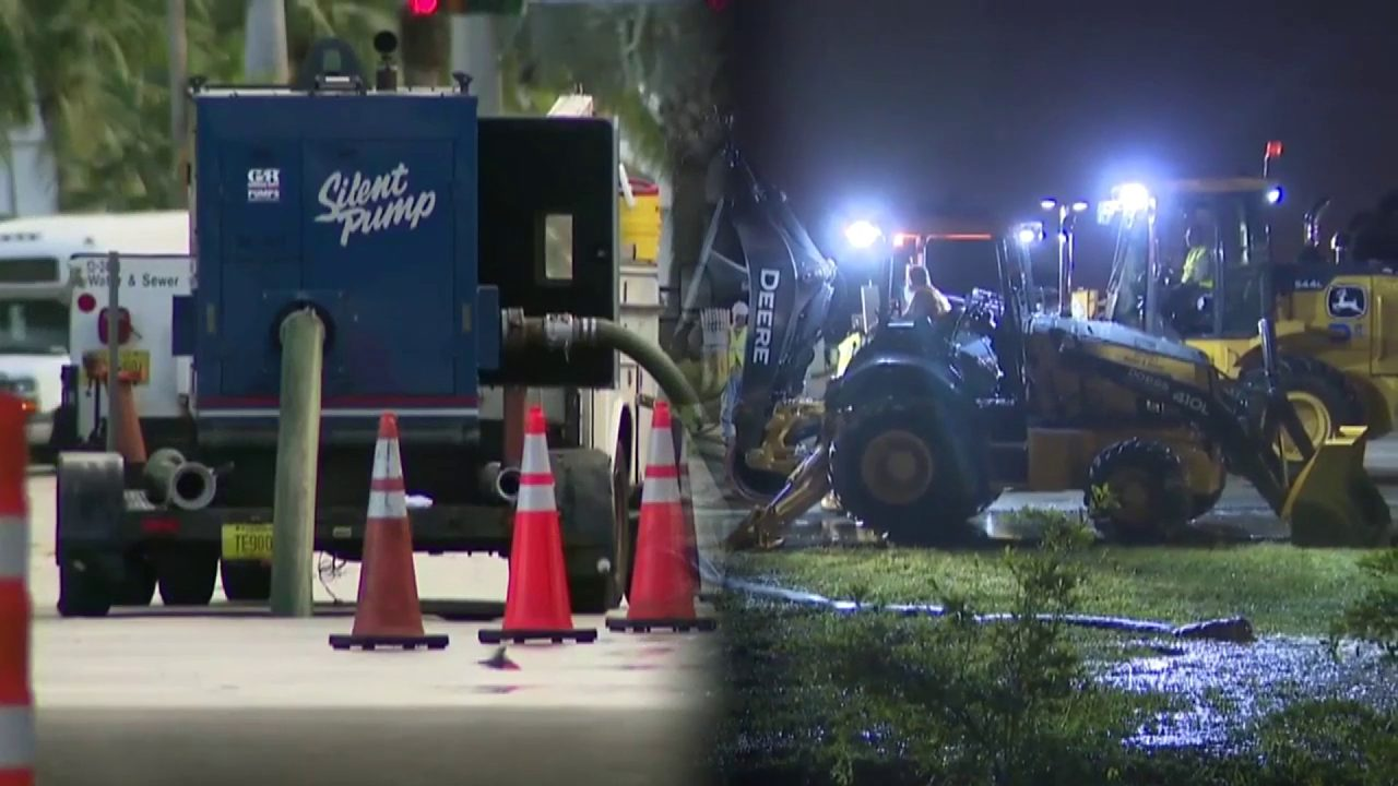 Finally fixed, two separate sewer main breaks caused traffic to stink in Aventura