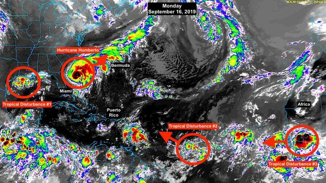As Humberto moves away from US, focus shifts to tropical disturbance in…