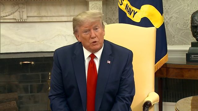 "President Trump takes step back after ""locked and loaded"" comment about Iran"