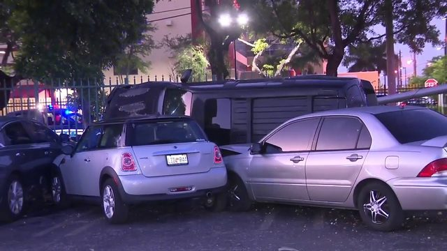 SUV crashes into fence, strikes several vehicles in Hialeah
