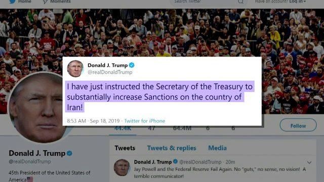 President Trump slaps new sanctions on Iran