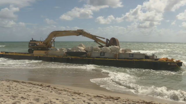Barge, tugboat grounded on Deerfield Beach to be removed during high tide