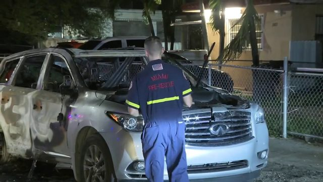 Arsonist torches vehicles parked outside Miami home, police say