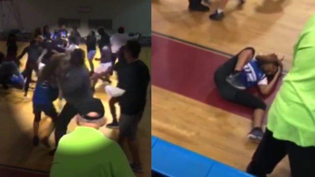 VIDEO: Man seen punching teen during high school basketball fight