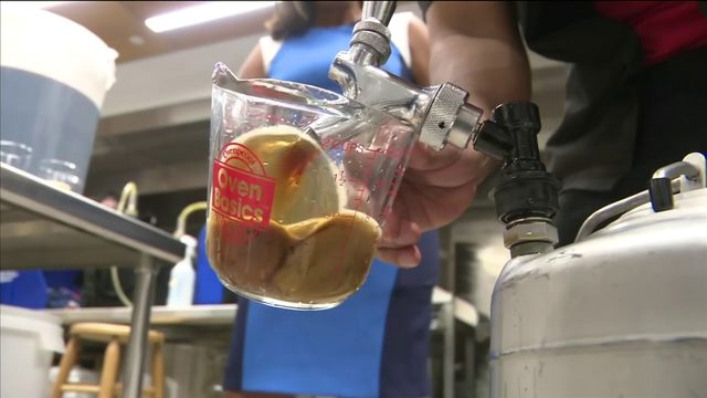Chemist runs Florida International University's beer lab