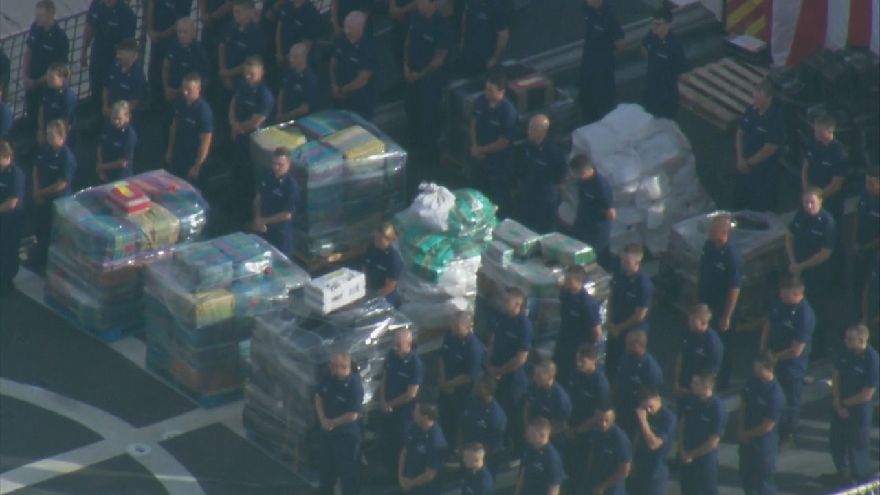 Coast Guard offloads more than 12,000 pounds of cocaine in Miami Beach