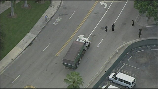 Pedestrian fatally struck by dump truck in Miami