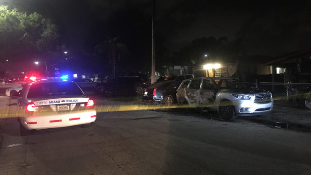 Infiniti SUV torched outside Miami home