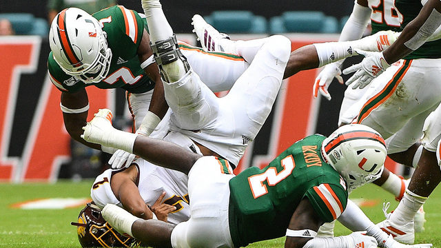 Miami barely gets past Central Michigan, 17-12