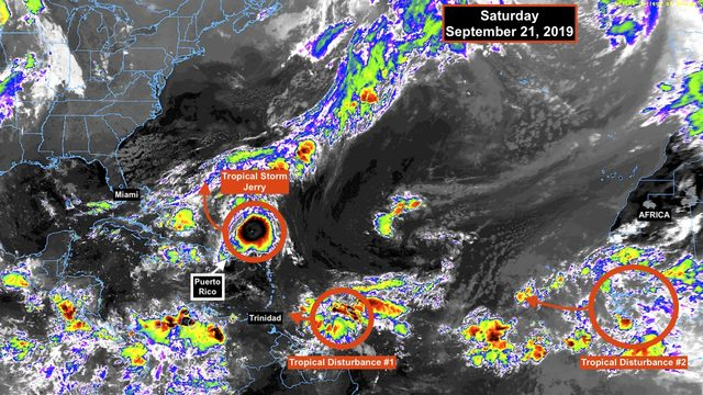 Caribbean threatened by new disturbance as Tropical Storm Jerry moves away