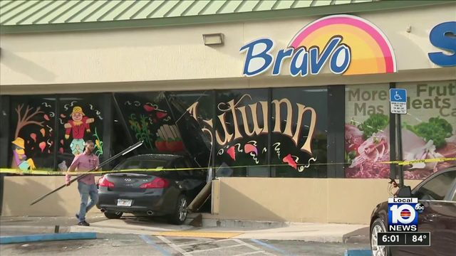 Car crashes into Hollywood supermarket