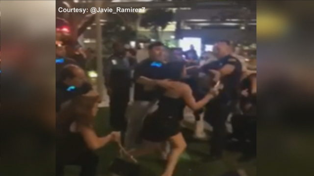 Woman hits police officer with high heel during Brickell bar brawl