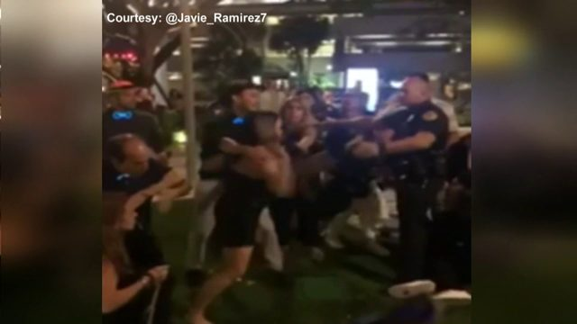 No arrests made after police-involved brawl outside Brickell bar
