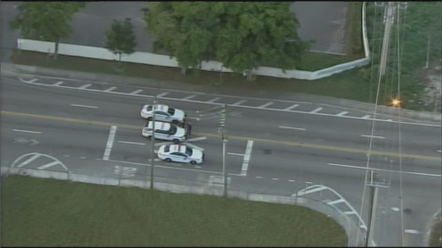 Downed power line closes stretch of Northwest 36th Street in Miami