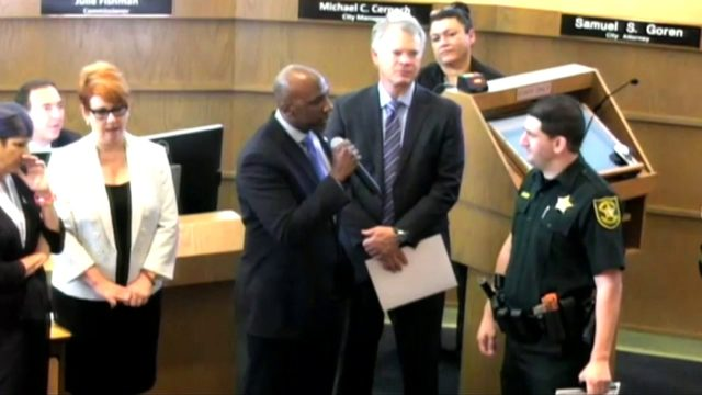 Commissioner berates deputy during award ceremony