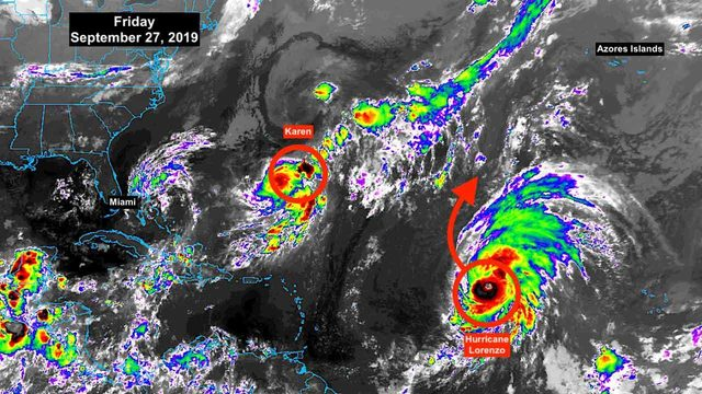 Tropical Storm Karen keeps hanging around, barely