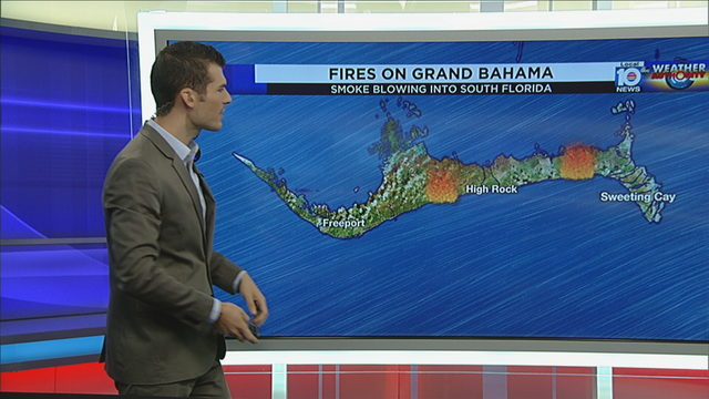Fires burning on Grand Bahama may be causing smoky smell in South Florida