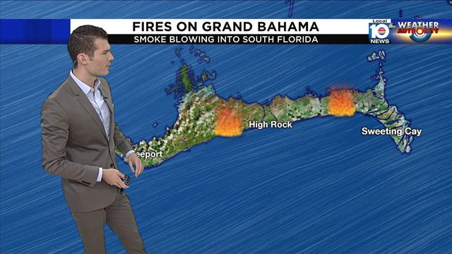 Smoky smell in South Florida caused by fires burning on Grand Bahama