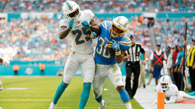 Dolphins out-muscled by Chargers, open season with fourth straight loss