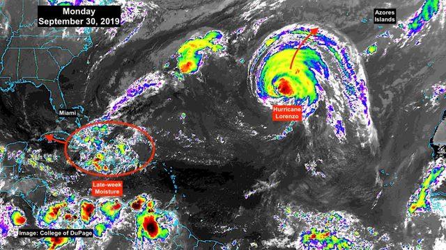 Large swells from Lorenzo impacting East Coast
