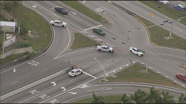 At least 1 shot near I-95 on-ramp at Miami Gardens Drive