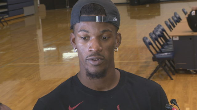 Jimmy Butler enjoys first Heat practice after 3:30 a.m. wakeup