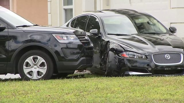 2 arrested after chase ends with 2 crashes in Pompano Beach