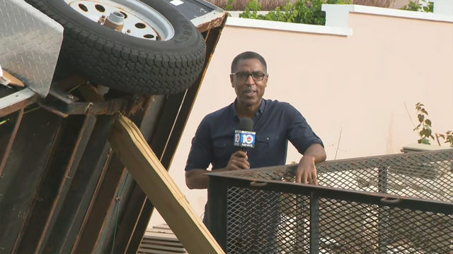 Local 10's Calvin Hughes visits Marsh Harbour month after Dorian