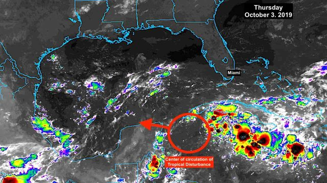 Tropical disturbance in Caribbean moves toward Gulf