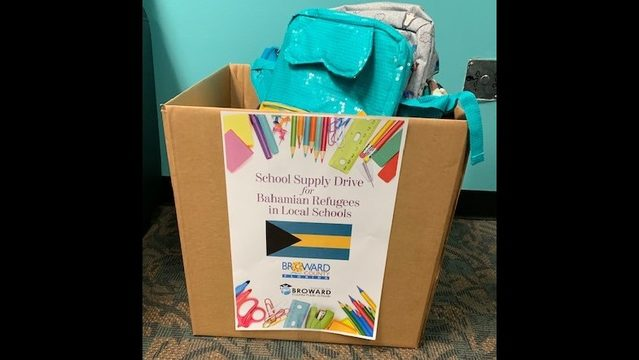 Displaced Bahamian students in Broward need school supplies