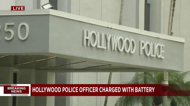 Hollywood police officer charged with battery