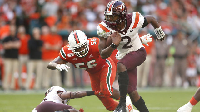 Hurricanes rally from 28-point deficit, but fall to Virginia Tech, 42-35