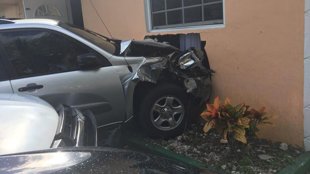 Vehicle crashes into Margate home, 1 injured