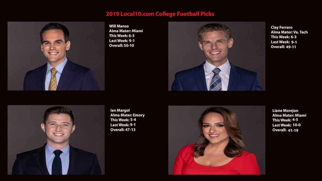 Local10.com college football picks: Week 6 results